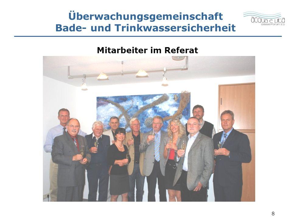 9 Überwachungsgemeinschaft Bade- und Trinkwassersicherheit Organe der Überwachungsgemeinschaft BTWS Referatsleitung, Überwachungsausschuss, Sachverständigenausschuss, Beratender Ausschuss.