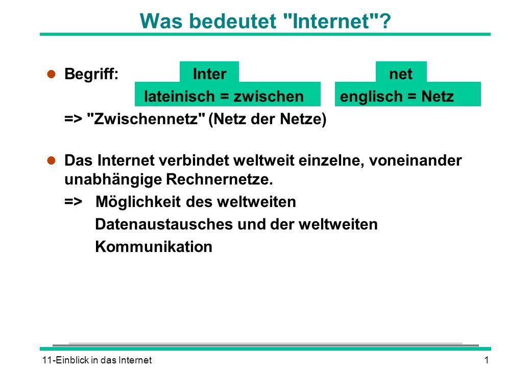 11-Einblick in das Internet1 Was bedeutet