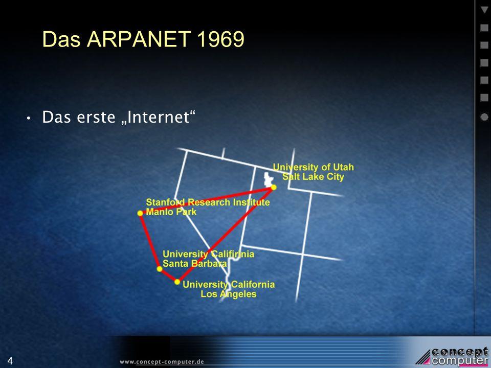4 Das ARPANET 1969 Das erste Internet