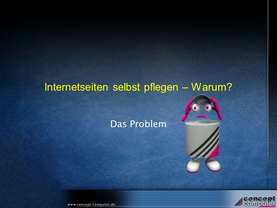 Internetseiten selbst pflegen – Warum? Das Problem