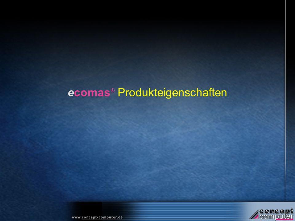 ecomas ® Produkteigenschaften