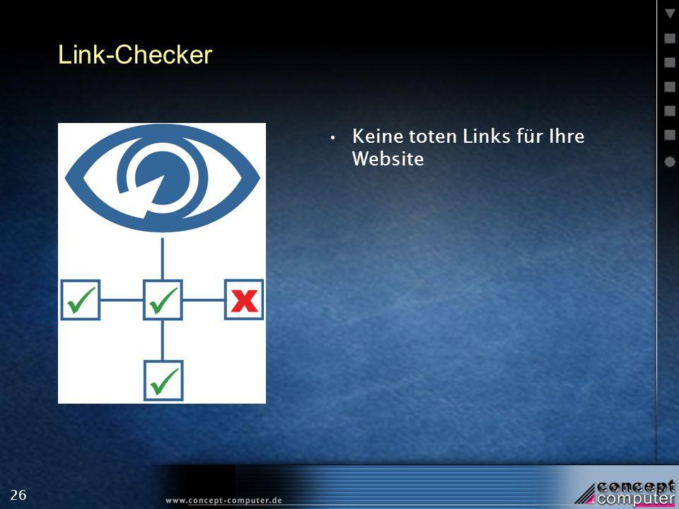 26 Link-Checker Keine toten Links für Ihre Website