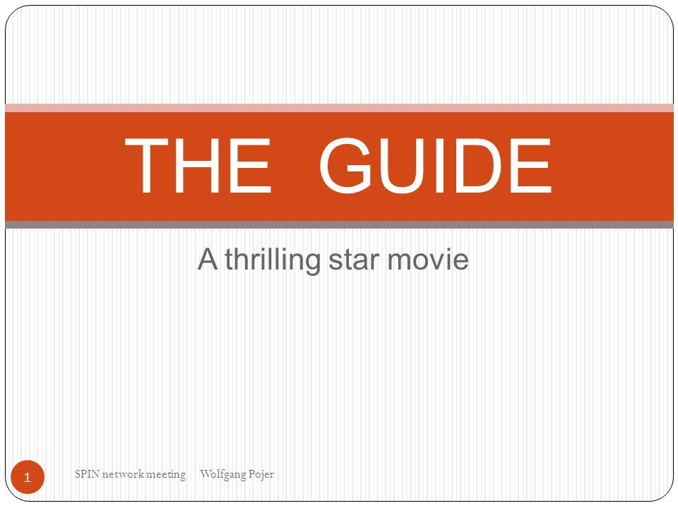 A thrilling star movie THE GUIDE 1 SPIN network meeting Wolfgang Pojer