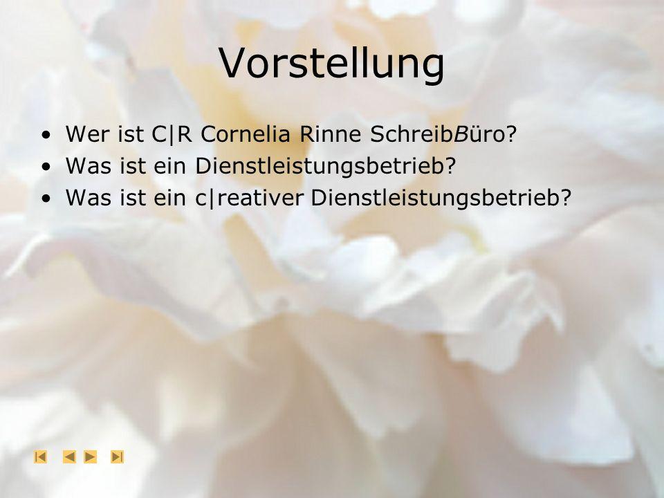 Vorstellung Wer ist C|R Cornelia Rinne SchreibBüro.