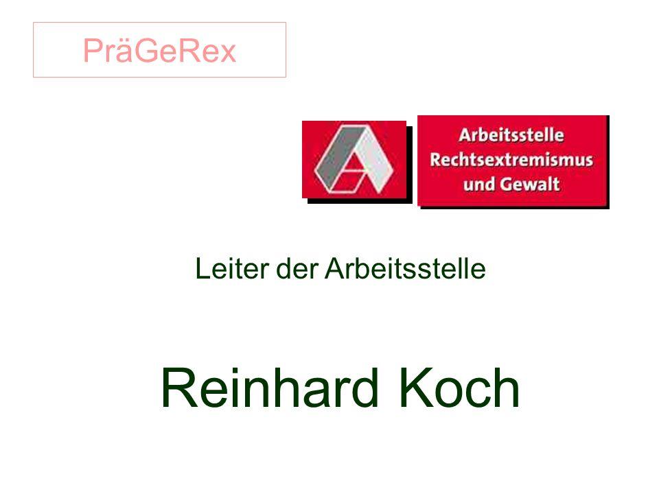 PräGeRex Leiter der Arbeitsstelle Reinhard Koch