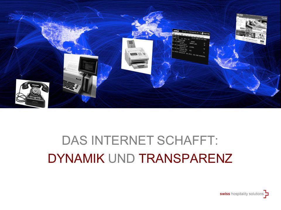 DAS INTERNET SCHAFFT: DYNAMIK UND TRANSPARENZ