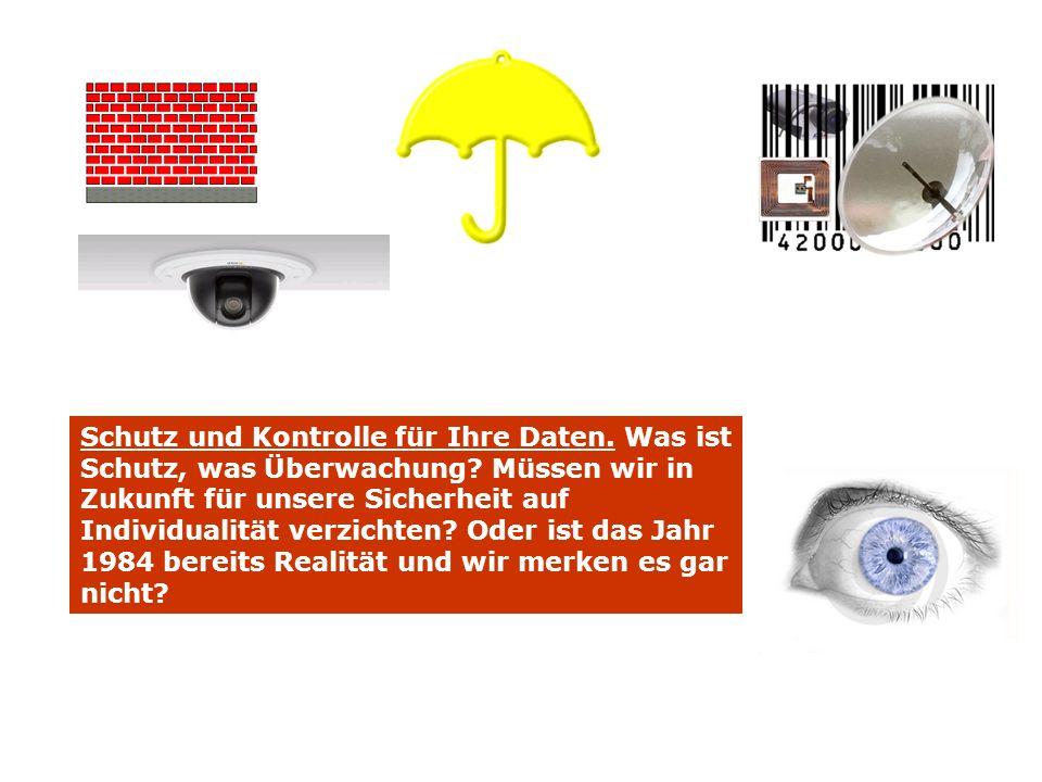 Schutz und Kontrolle für Ihre Daten.Was ist Schutz, was Überwachung.