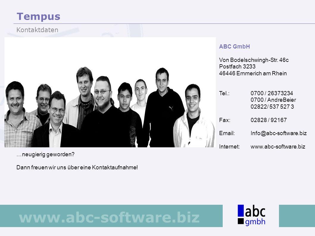 www.abc-software.biz ABC GmbH Von Bodelschwingh-Str. 46c Postfach 3233 46446 Emmerich am Rhein Tel.: 0700 / 26373234 0700 / AndreBeier 02822/ 537 527