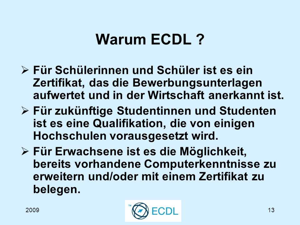 200913 Warum ECDL .