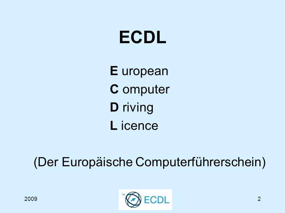 20093 Was verbirgt sich hinter dem ECDL.