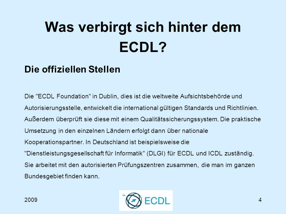20094 Was verbirgt sich hinter dem ECDL.