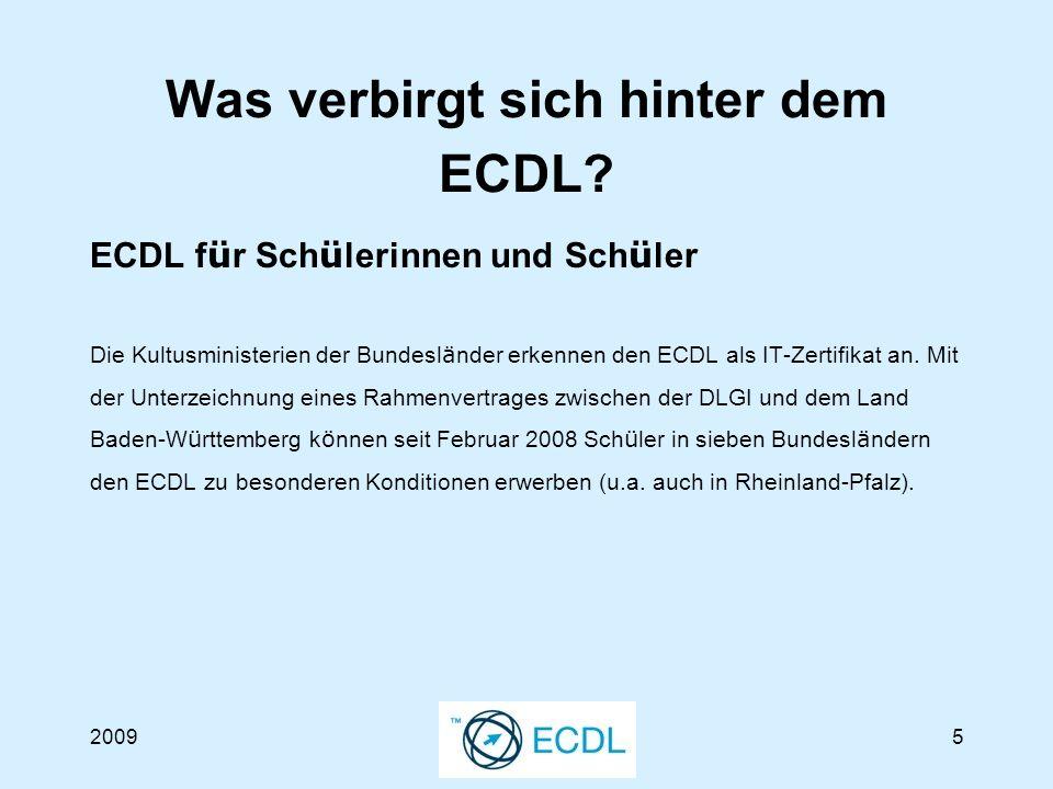 20096 Was verbirgt sich hinter dem ECDL.