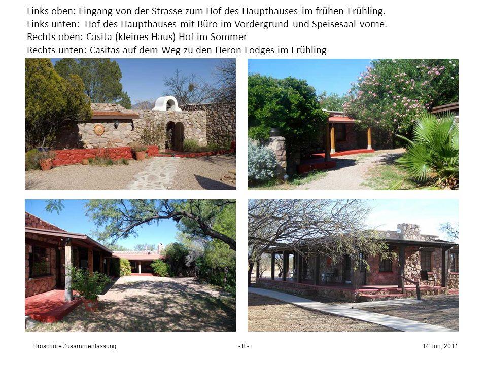 - 7 - Eingang und Gebäude des jetzigen Kenyon Ranch Retreat-Zentrums Einfahrt durch das Tor zur Ranch von Süden her. Du fährst Richtung Haupthaus, wo