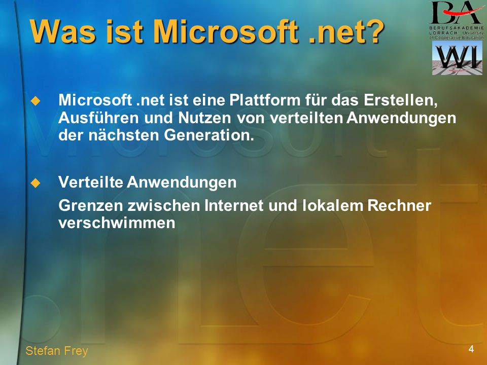 4 Was ist Microsoft.net.