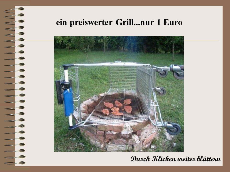 ein preiswerter Grill...nur 1 Euro