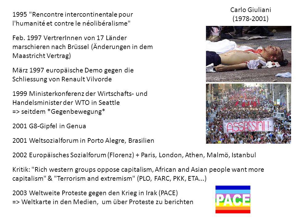 1995 Rencontre intercontinentale pour l humanité et contre le néolibéralisme Feb.