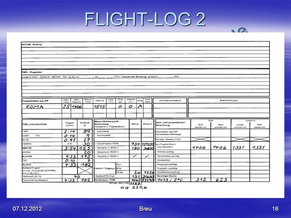 NO COPY – www.fliegerbreu.de FLIGHT-LOG 2 07.12.2012Breu16