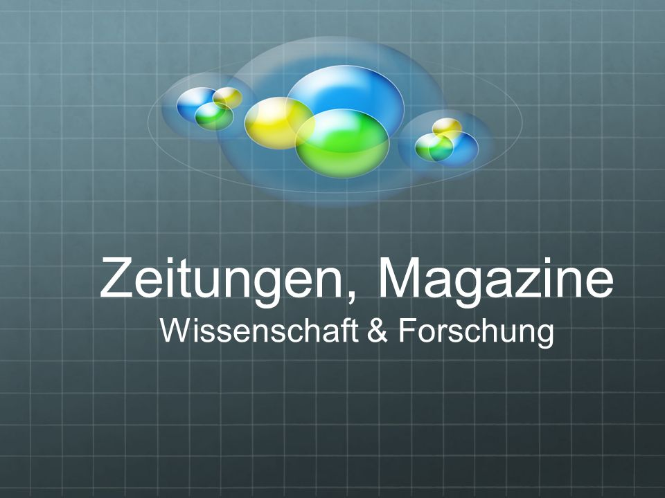 Zeitungen, Magazine Wissenschaft & Forschung