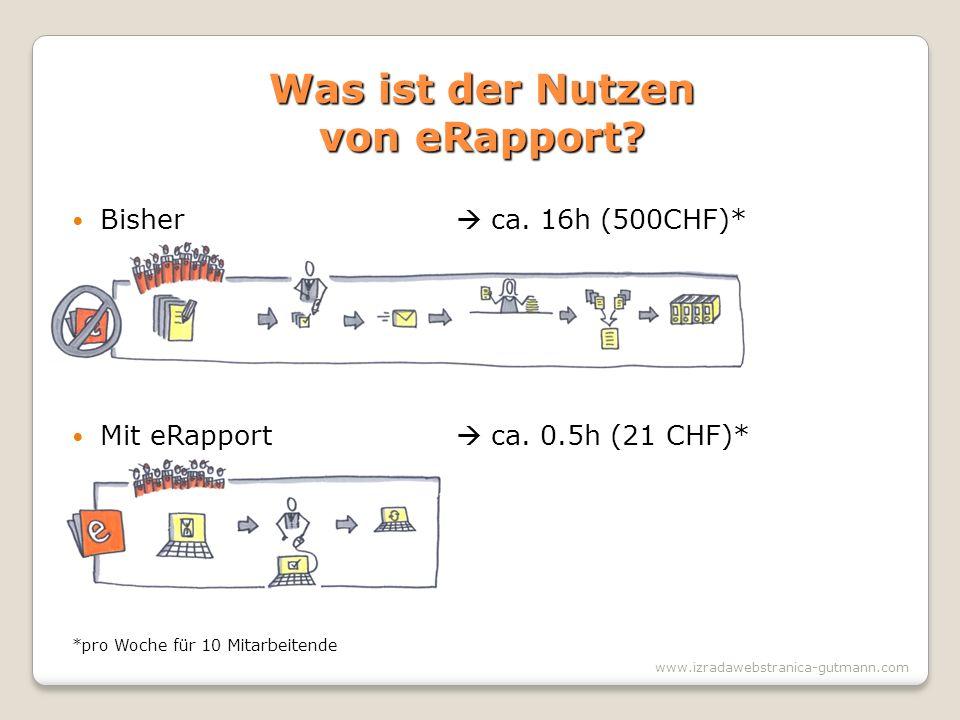 Was ist der Nutzen von eRapport. www.izradawebstranica-gutmann.com Bisher ca.