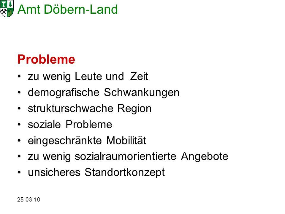 Amt Döbern-Land 25-03-10 Probleme zu wenig Leute und Zeit demografische Schwankungen strukturschwache Region soziale Probleme eingeschränkte Mobilität