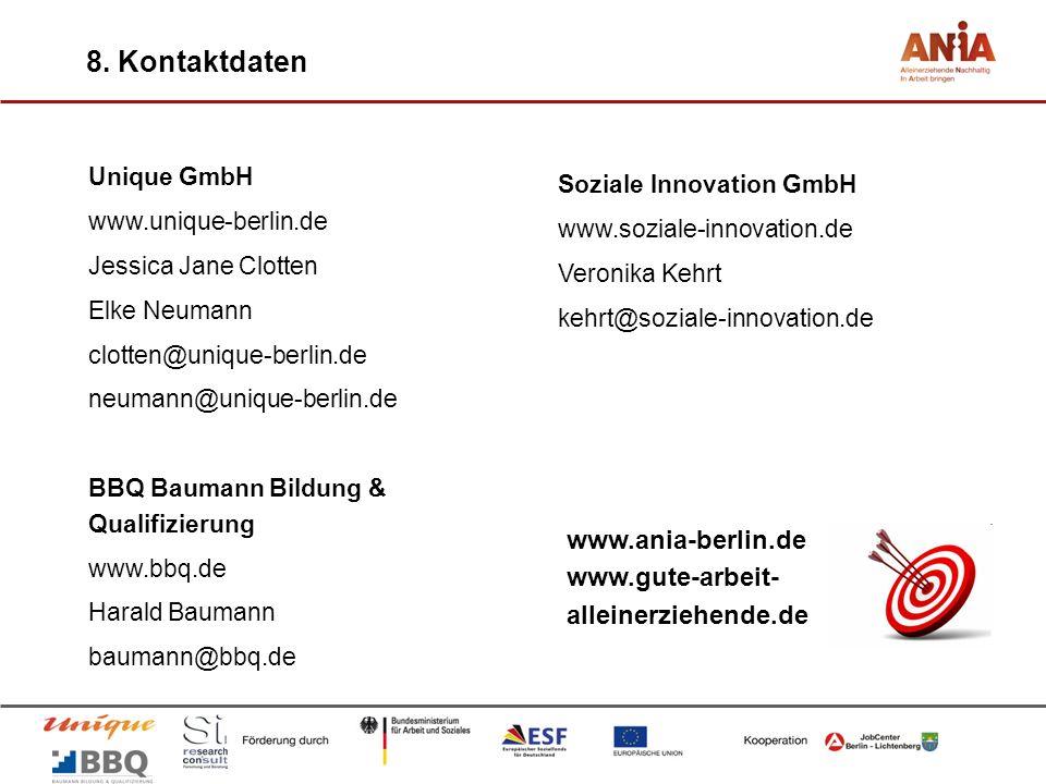 Unique GmbH www.unique-berlin.de Jessica Jane Clotten Elke Neumann clotten@unique-berlin.de neumann@unique-berlin.de BBQ Baumann Bildung & Qualifizier