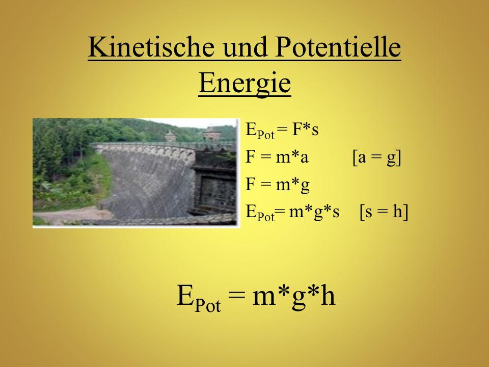 E Pot = F*s F = m*a [a = g] F = m*g E Pot = m*g*s [s = h] E Pot = m*g*h