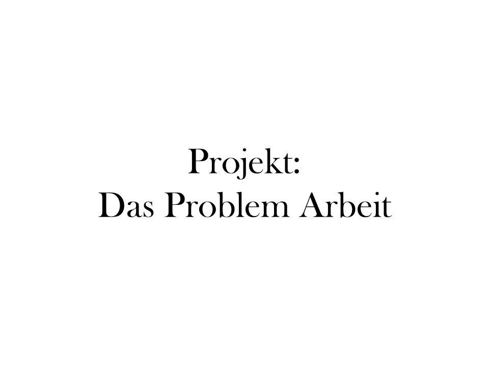 Einleitung: Thema: Das Problem Arbeit Zeitpunkt: 1./2./3.