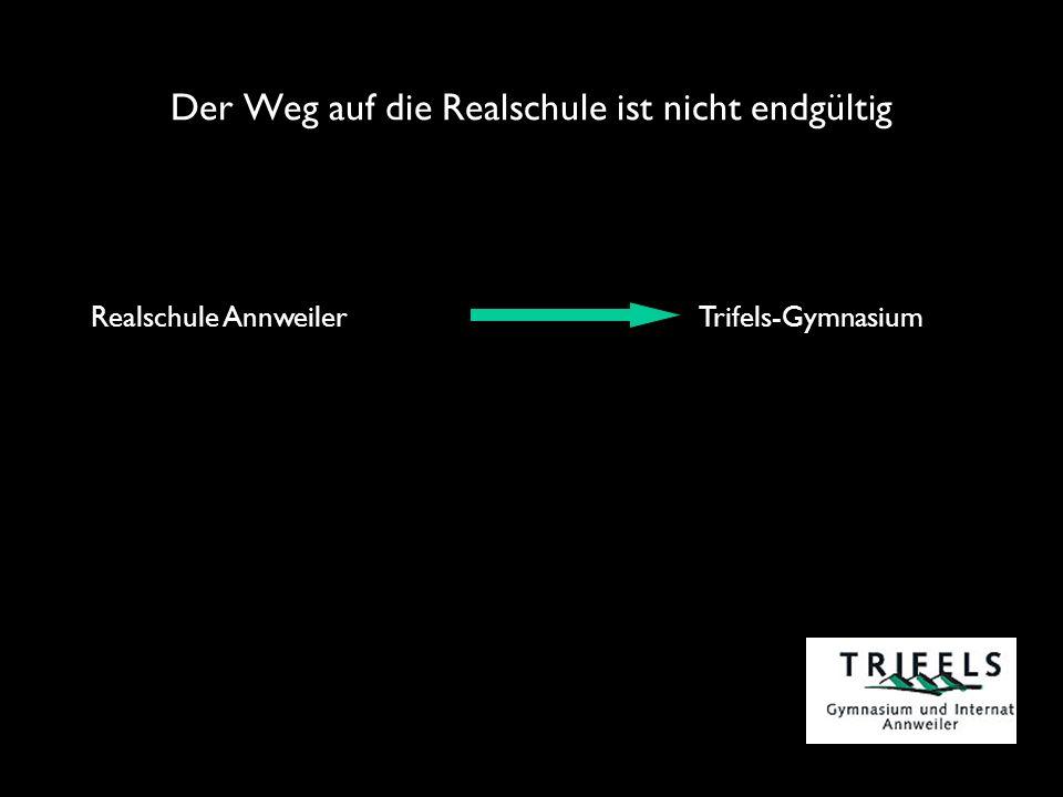 Der Weg auf die Realschule ist nicht endgültig Realschule Annweiler Trifels-Gymnasium