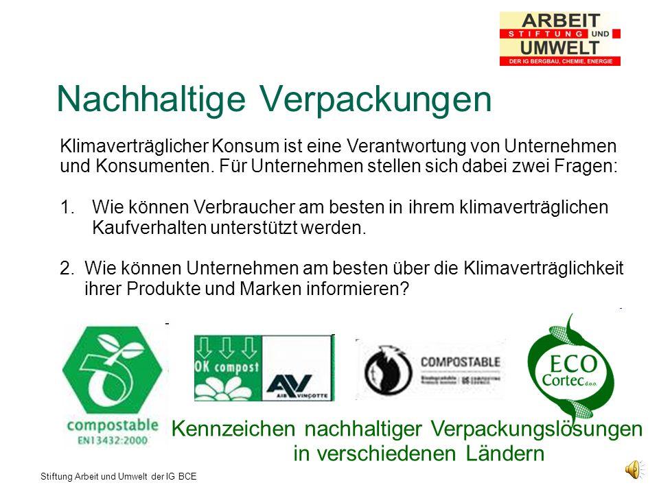 Stiftung Arbeit und Umwelt der IG BCE Nachhaltigkeit muss Chefsache sein.