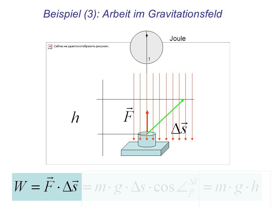 Beispiel (3): Arbeit im Gravitationsfeld Joule 1