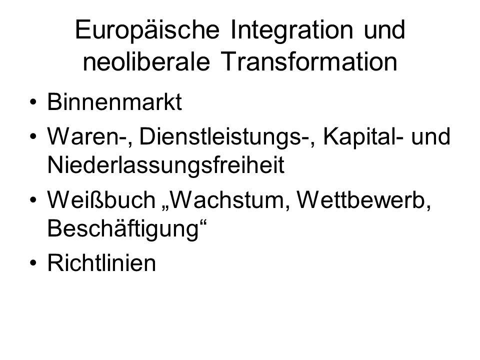 Privatisierung Transfer staatlicher Aktivitäten in Privatbereich (Markt/Haushalt) Entstaatlichung, Entpolitisierung, Entdemokratisierung