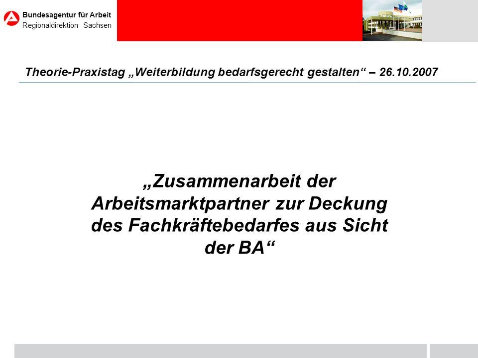 Seite Bundesagentur für Arbeit Regionaldirektion Sachsen 22 Beschäftigungsstruktur in Sachsen