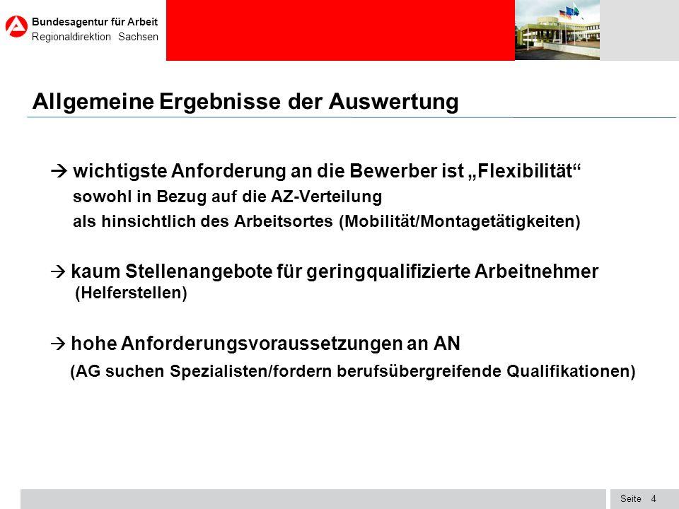 Seite Bundesagentur für Arbeit Regionaldirektion Sachsen 15 Stellenindex der Bundesagentur für Arbeit