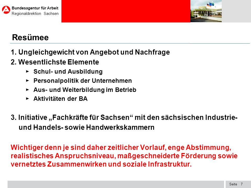 Seite Bundesagentur für Arbeit Regionaldirektion Sachsen 18 Situation bei ausgewählten Arztberufen