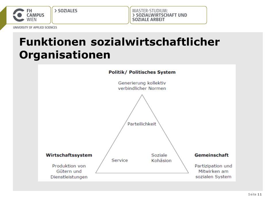 Seite 11 Funktionen sozialwirtschaftlicher Organisationen