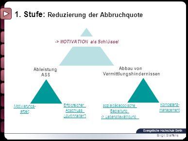 Evangelische Hochschule Berlin Birgit Steffens Motivierungsarbeit - Motivierungsphase vor Beginn des ASS -niedrigschwelliger Zugang aufsuchende Arbeit (z.B.