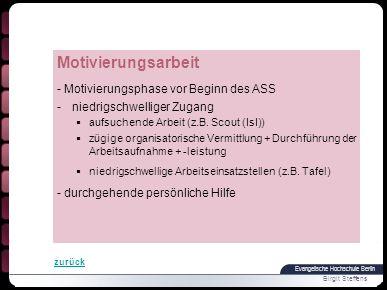 Evangelische Hochschule Berlin Birgit Steffens Vielen Dank für Ihre Aufmerksamkeit!