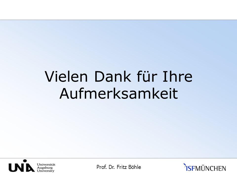 Prof. Dr. Fritz Böhle Universität Augsburg Vielen Dank für Ihre Aufmerksamkeit