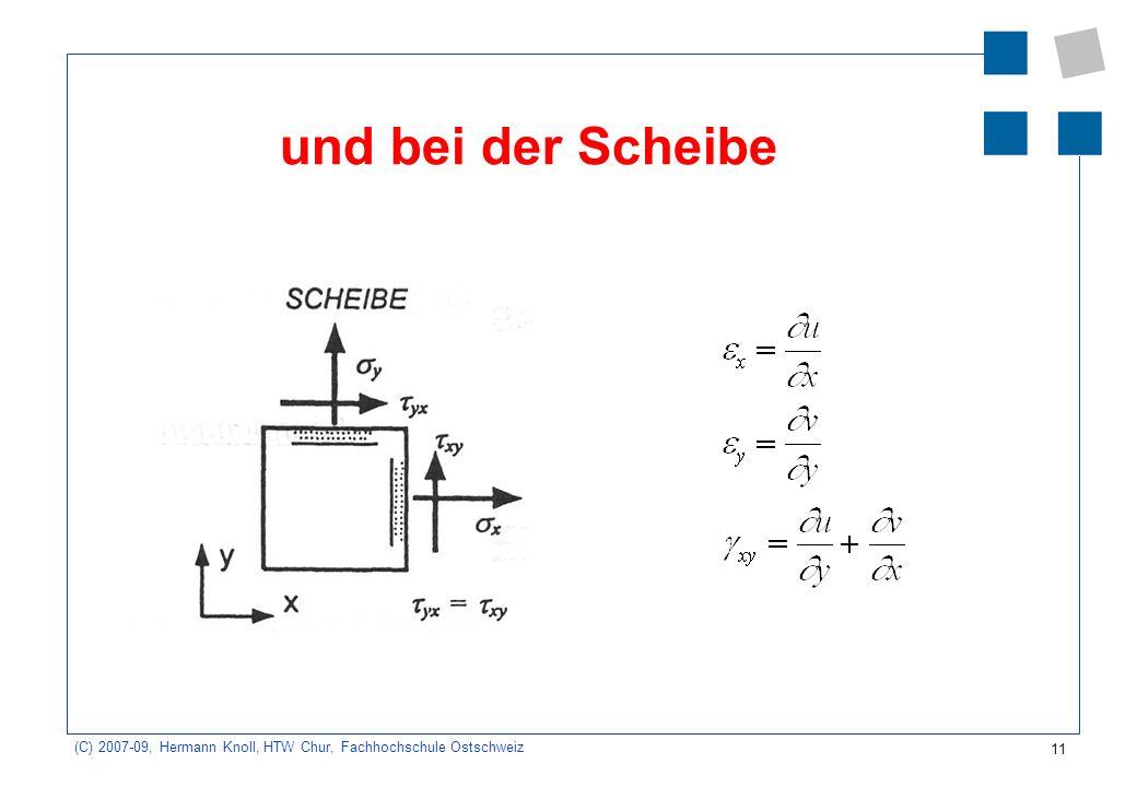 11 (C) 2007-09, Hermann Knoll, HTW Chur, Fachhochschule Ostschweiz und bei der Scheibe