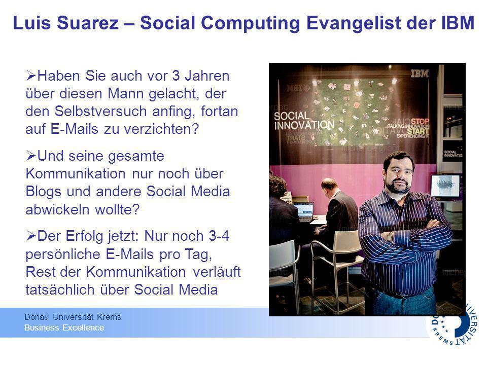 Donau Universität Krems Business Excellence Haben Sie auch vor 3 Jahren über diesen Mann gelacht, der den Selbstversuch anfing, fortan auf E-Mails zu