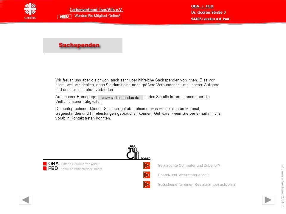 Caritasverband Isar/Vils e.V. Werden Sie Mitglied.