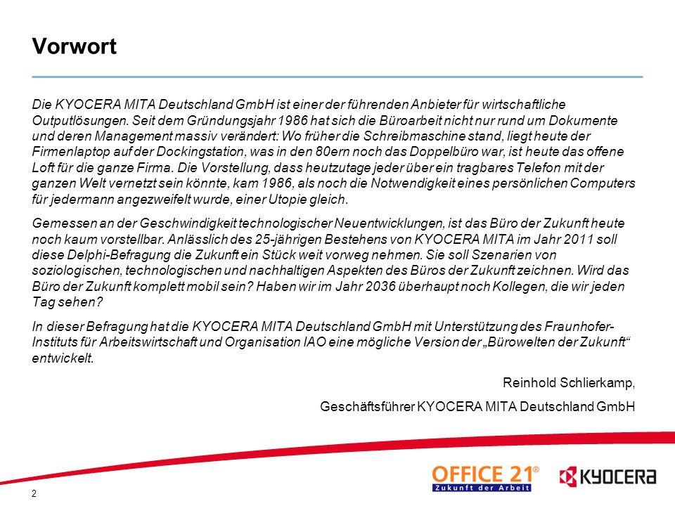 43 Angaben zur Stichprobe Experten Umweltbundesamt (UBA) Bundesanstalt für Arbeitsschutz und Arbeitsmedizin (BAuA) Deutsche Telekom WERKHAUS Design + Produktion GmbH Evangelischer Entwicklungsdienst e.V.