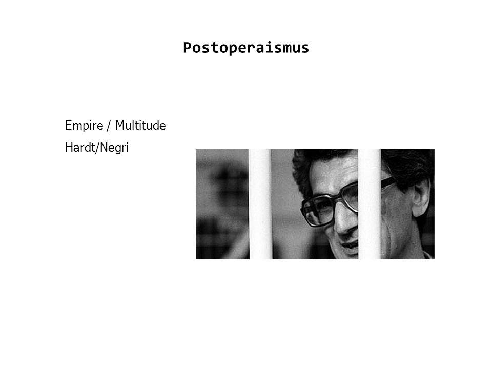 Postoperaismus Empire / Multitude Hardt/Negri