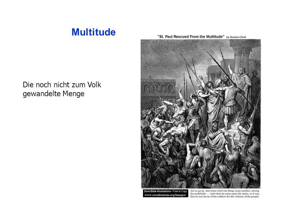 Multitude Die noch nicht zum Volk gewandelte Menge
