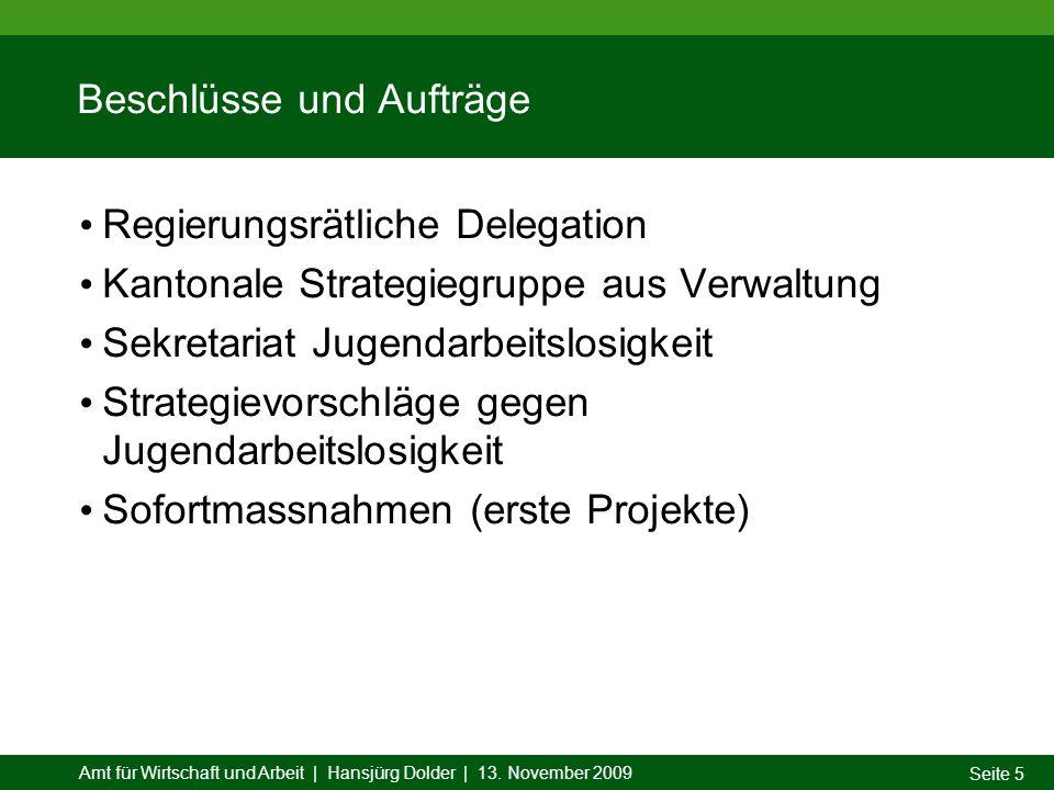 Amt für Wirtschaft und Arbeit | Hansjürg Dolder | 13.