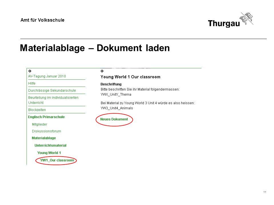 Amt für Volksschule 11 Materialablage – Dokument laden