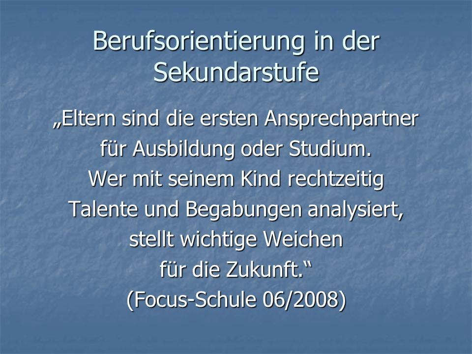 Jahrgang 10 – 3./ 4. Quartal (Jan. – Juni 2011) Fächerbasar und Infoabend für die Sek.