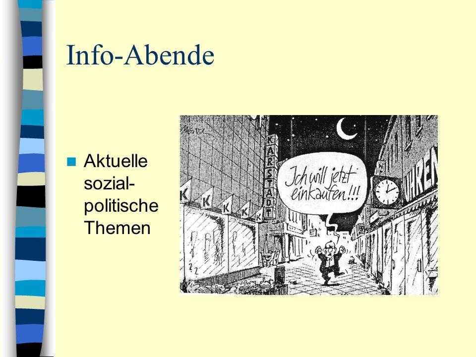 Info-Abende Aktuelle sozial- politische Themen