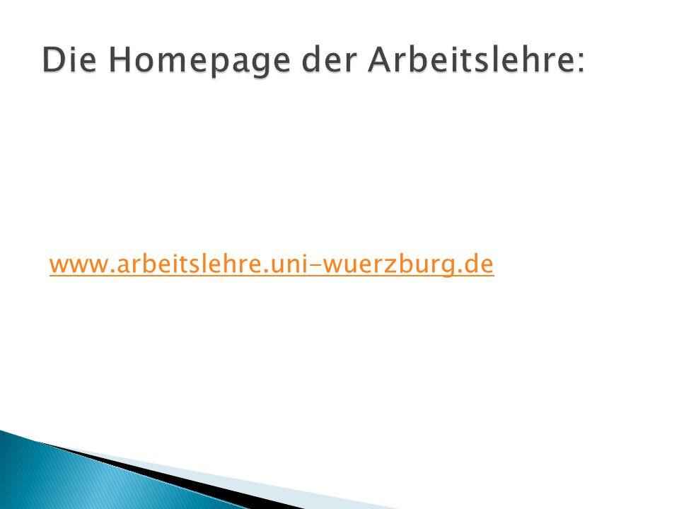 www.arbeitslehre.uni-wuerzburg.de