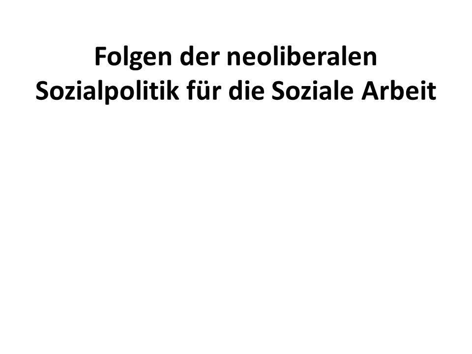 Folgen der neoliberalen Sozialpolitik für die Soziale Arbeit